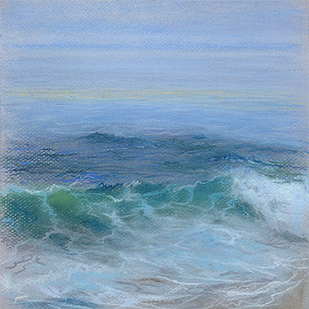Drapery of the Sea Pastel